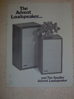 Vintage Advent Stereo Speakers Brochure Collection-Rare!