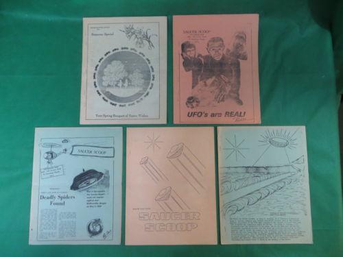 RARE! Lot of 5 SAUCER SCOOP Magazines Volume 4 No.'s 1-6 UFOlogy 1969