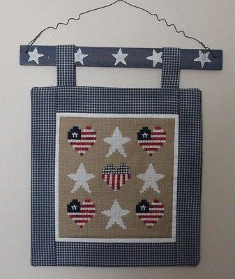 Cross Stitch Wall Hanging: Stars & Stripes