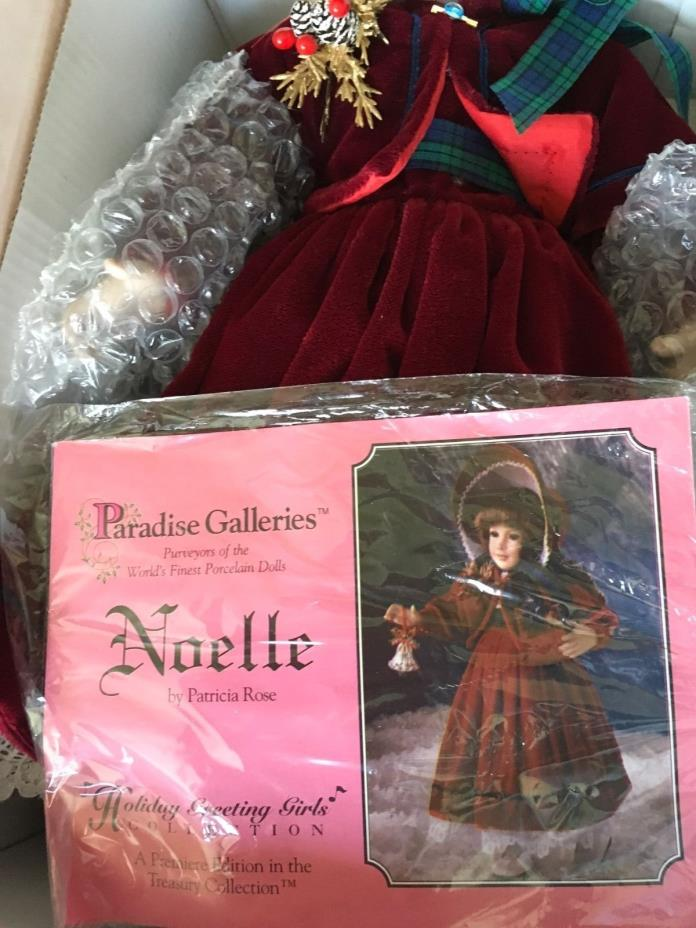 Treasury collection paradise galleries Noelle Christmas porcelain  doll