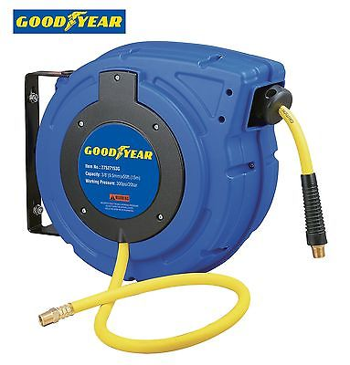 Goodyear 27527153G Enclosed Retractable Air Compress... Air Compressor Hose Reel