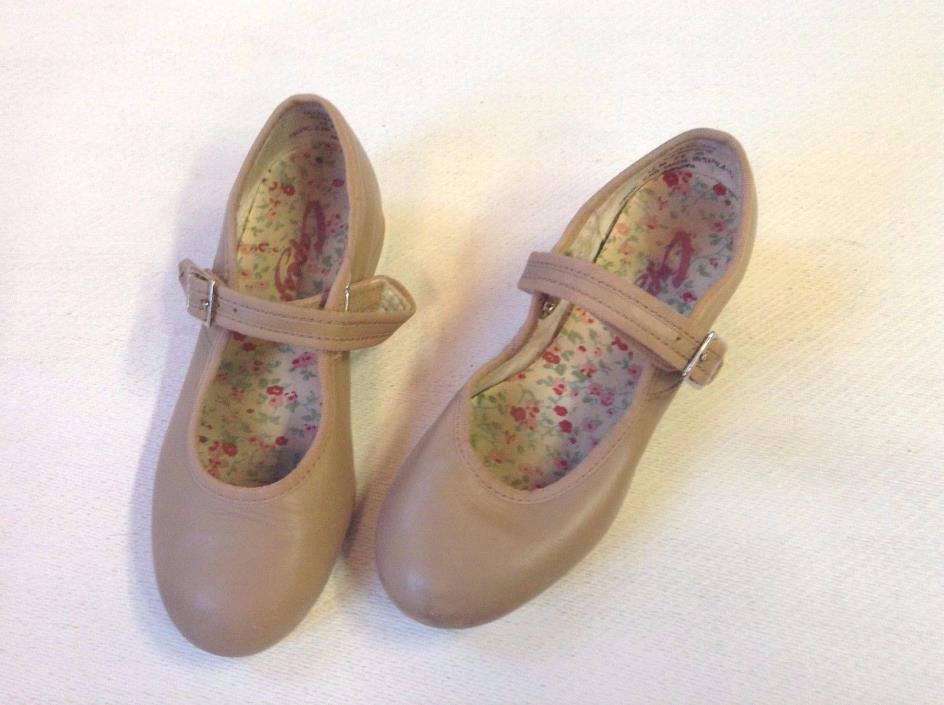 Toddler Girl Capezio Tele Tone Tan Mary Janes Tap Shoes Size 12 M