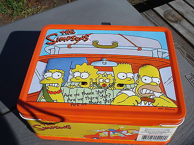 THE SIMPSONS LUNCH BOX ARE WE THERE YET WITH THERMOS
