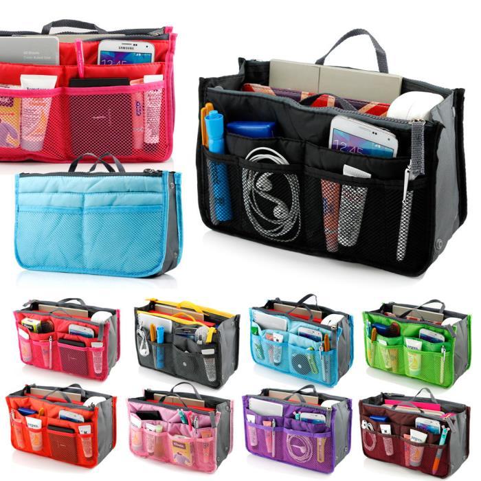 New Women Travel Insert Organizer Compartment Handbag Purse Large Liner Tote Bag