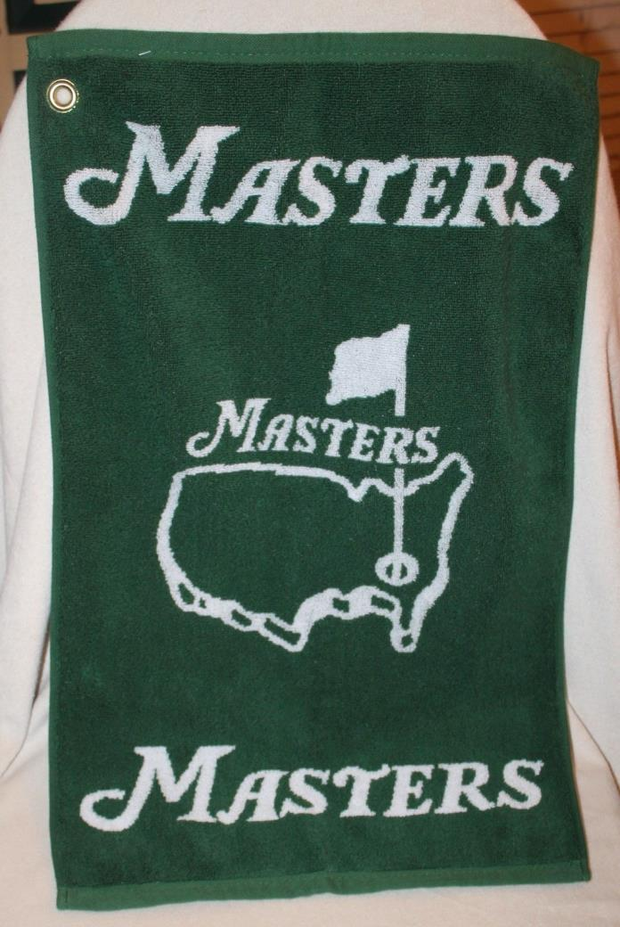 Masters Golf Towel 2017 Green & White Augusta National In Hand