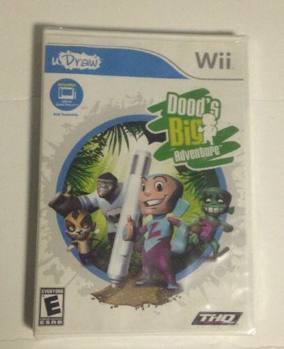 New Dood's Big Adventure (2010 Nintendo Wii) Video Game Wii uDraw THQ