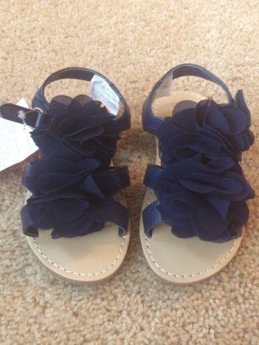 Gymboree Toddler Girls Navy Sandals, Size 8, Tag $36.95