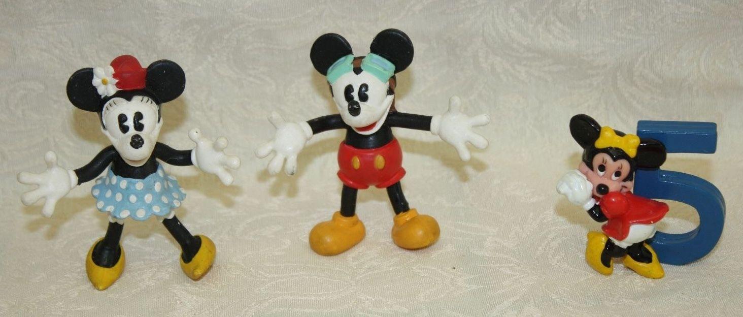 Lot/3 Disney Mickey & Minnie Mouse 3