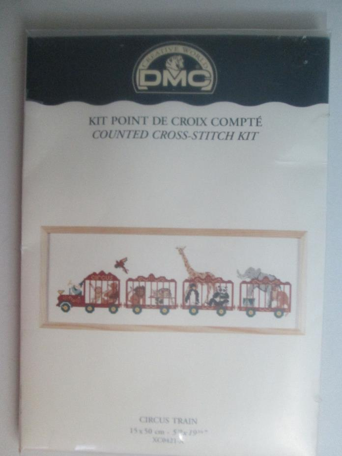 DMC Counted Cross Stitch Kit CIRCUS TRAIN Complete xc0421-A