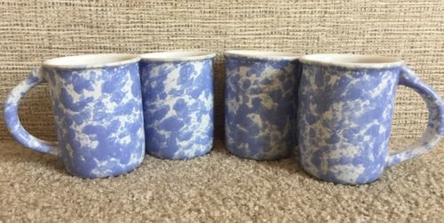 Bennington Potters Vermont Pottery Blue Agate Mug Cup 1967 dg Morning Glory 4