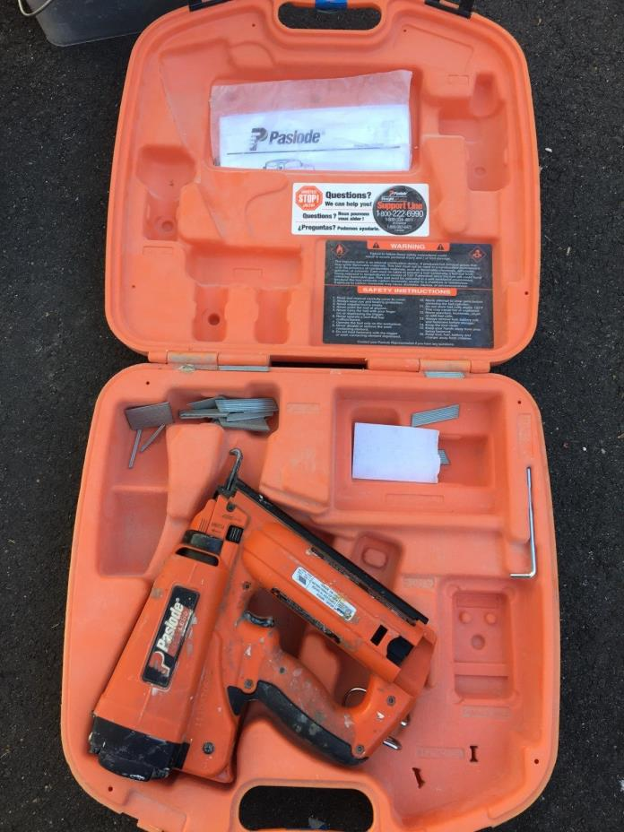 how to clean a paslode finish nailer