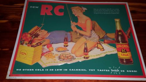 rc royal crown cola 1992 tin metal sign