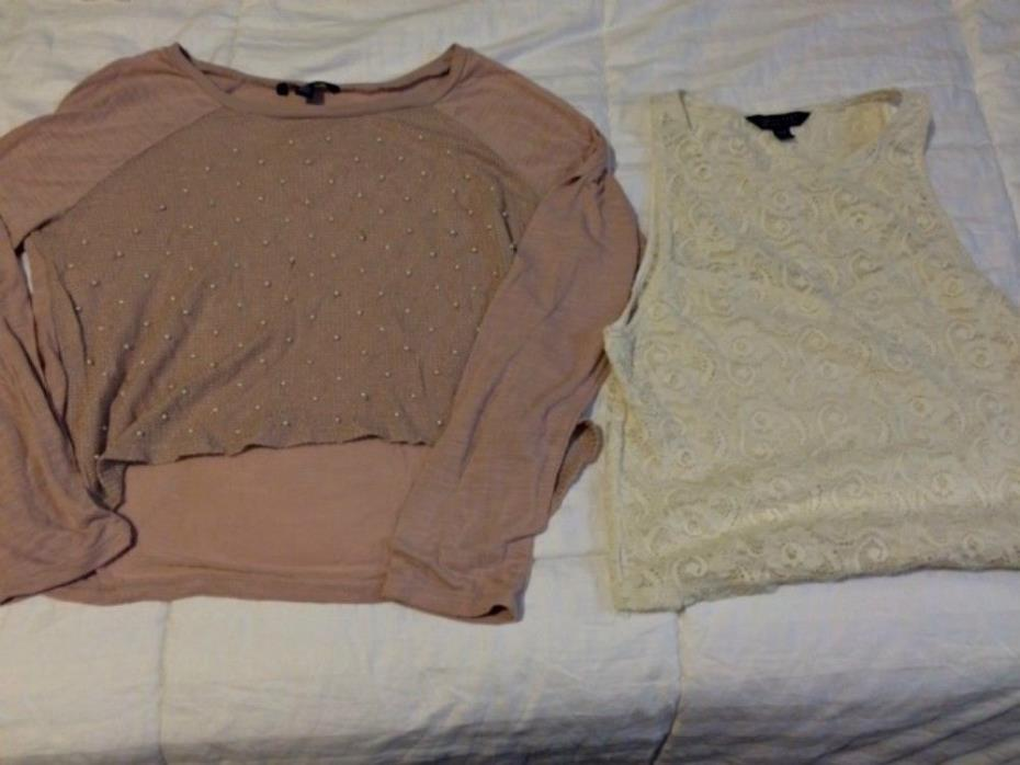 Lot of 22 American Eagle, Hollister, A&F, Gilly Hicks Women's Tops Size L