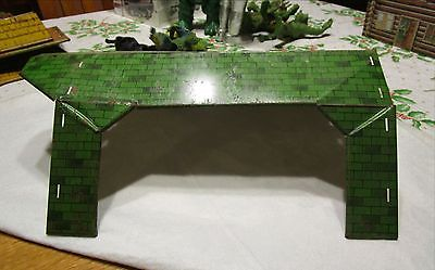 Vintage Marx Metal Barn Roof, Green