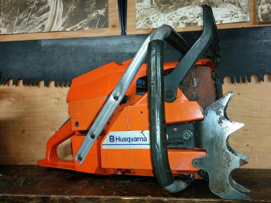 GOOD USED HUSQVARNA 3120 XPW WRAP HANDLEBAR CHAINSAW 122CC'S HUGE SAW 395 MILLIN