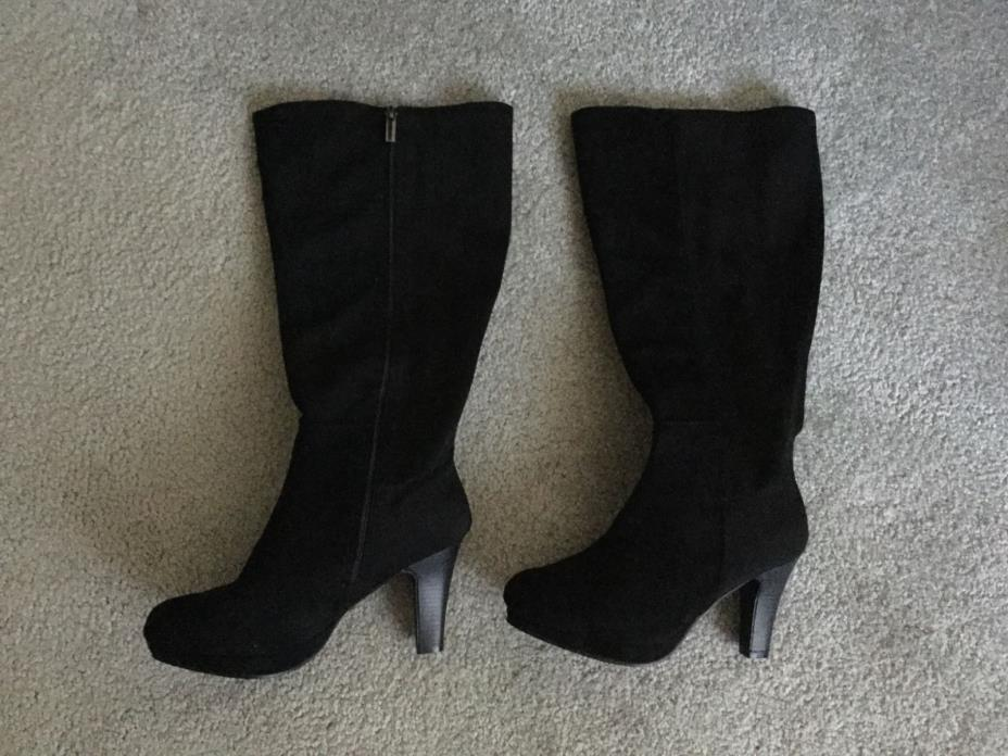 Lane bryant boots size 9 wide calf 18 1/2