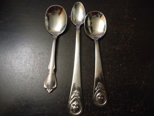 Lot of Vintage Baby Spoons