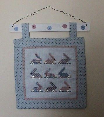 Cross Stitch Wall Hanging: Bunnies