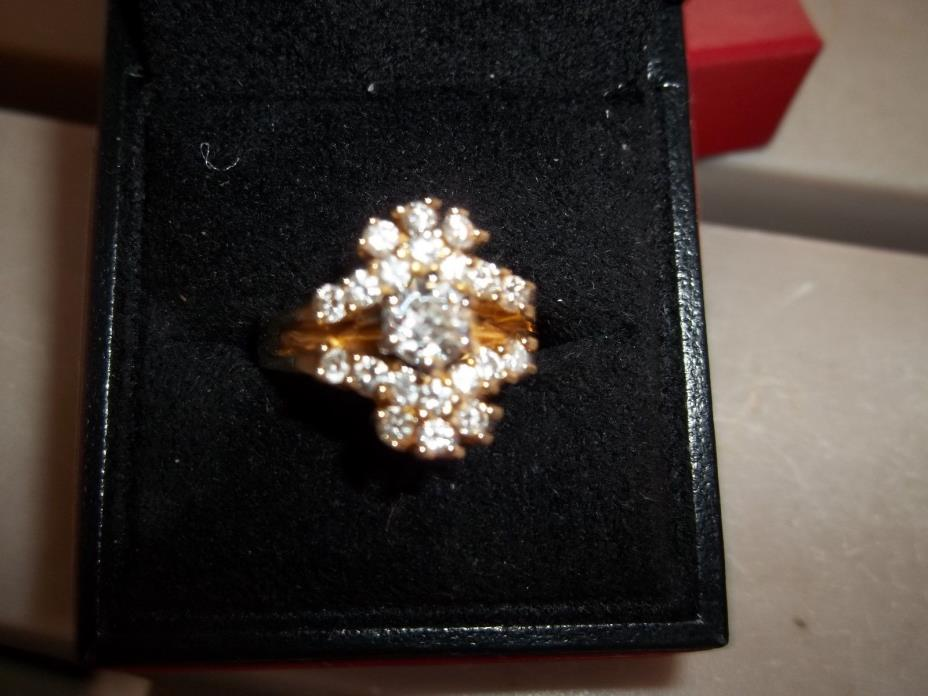 14K  DIA  WEDDING RING  WITH  A DIA  RING  GUARD  TOTAL  1.70 K