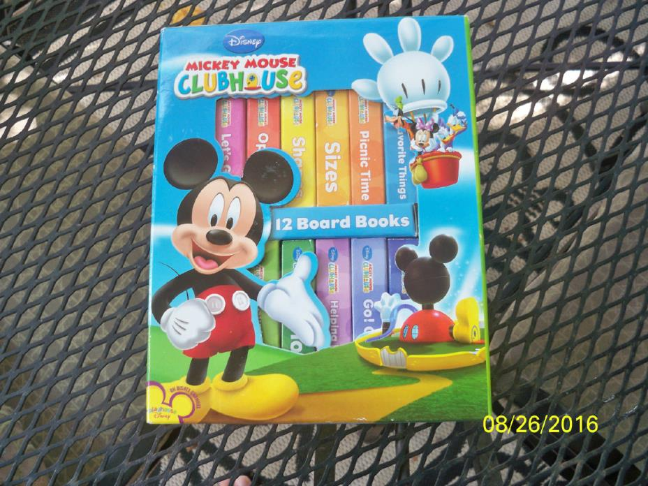 DISNEY MICKEY MOUSE CLUBHOUSE 12 BOARD BOOKS 2008