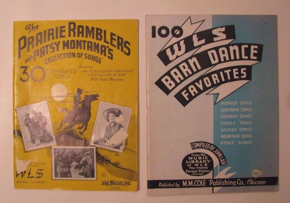 *1935/1937 WLS RADIO CHICAGO COUNTRY SONGBOOK LOT – PATSY MONTANA – BOB MILLER*