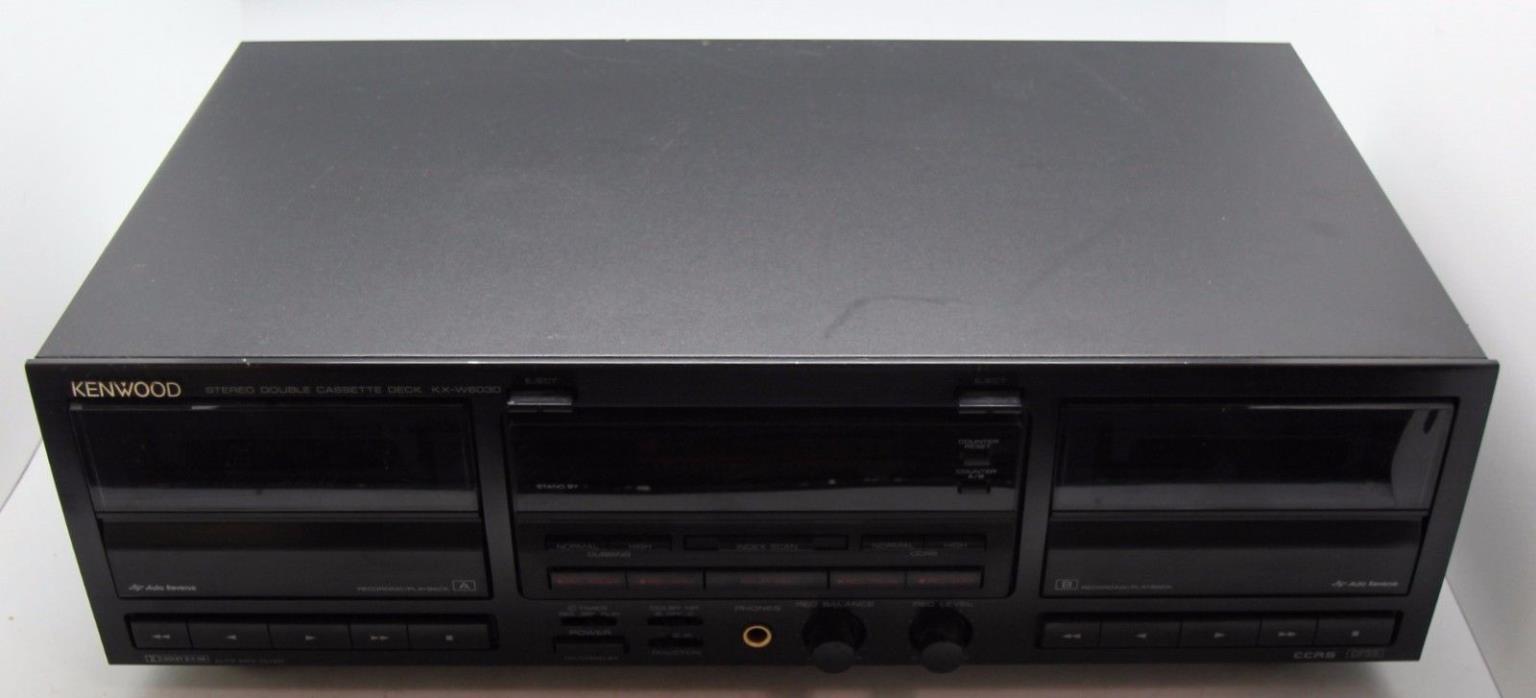 Kenwoord Stereo Cassette Deck KX-W6030 FREE SHIPPING