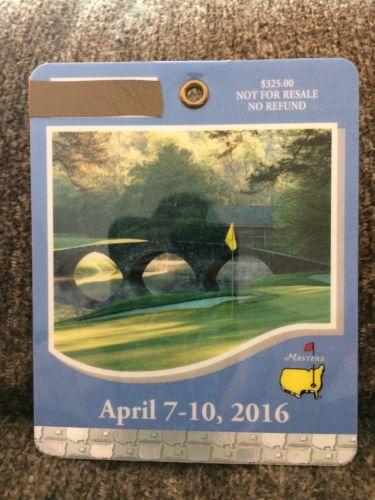 2016 Augusta Masters ticket, Danny Willett British