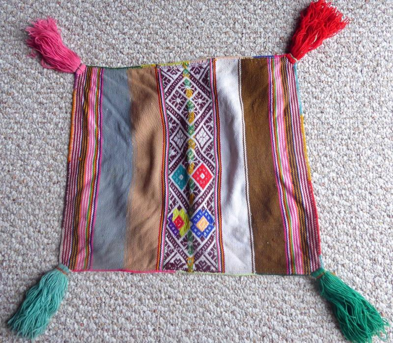 Peruvian Aguayo Table Cloth Unkuña-  Andean Mountain Textile