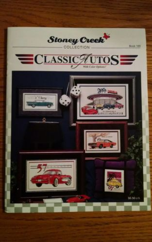 Stony Creek Classic Autos Cross Stitch Book Mustang Thunderbird Corvette OOP