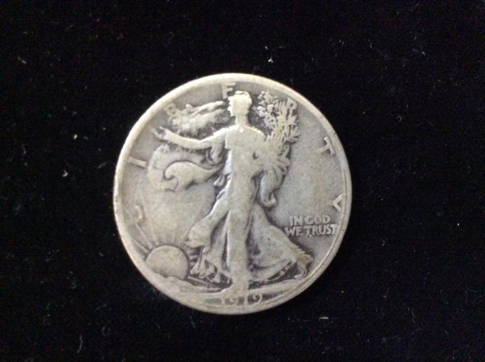 1919-S Walking Liberty Half Dollar CHOICE VG Very Good Tougher Key Date Coin !!