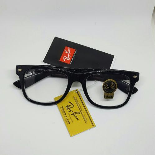 Ray-Ban Wayfarer RB 2140 50-22 3N Glasses Non-Prescription G-15 Lens - Black