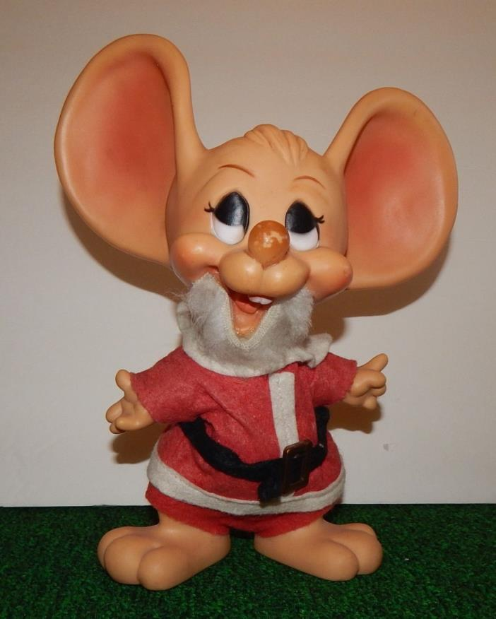 1970s Huron Products Co  Santa Mouse Troll doll  10.5