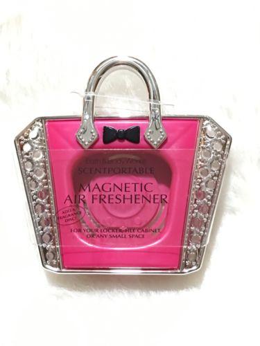 Bath and Body Works Scentportable Air Freshner Pink PurseBling Magnetic Locker