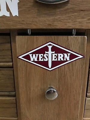 vintage knife sticker advertising western cutlery Western states Bowie western