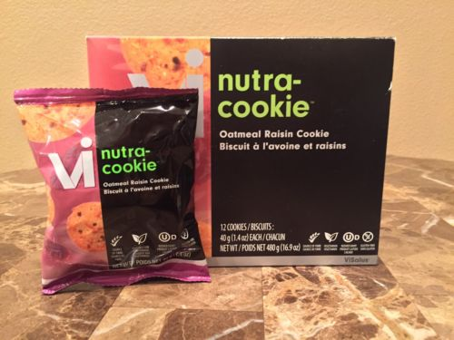 Visalus Nutra Cookie-Oatmeal-1 Box of 12 Cookies