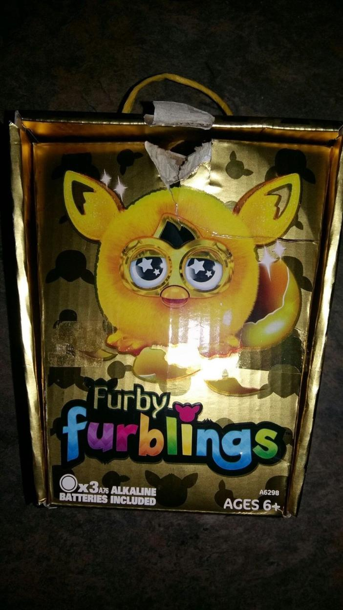 READ Golden Furby Furbling Interactive Toy Limited Edition READ
