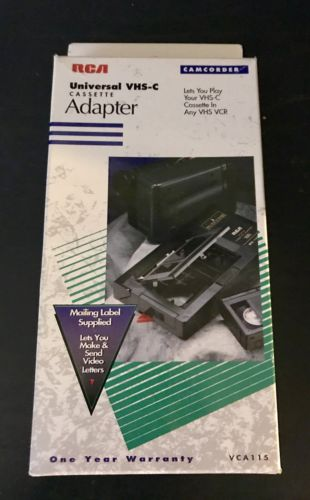 RCA Universal Motorized VHS-C To VHS Video Cassette Adapter - VCA115