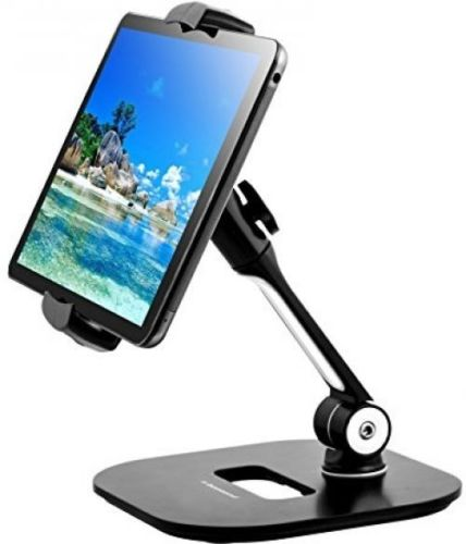 Tablet Stand - Sturdy Aluminum Rotating Tablet Holder For IPad Pro, Air, Mini,