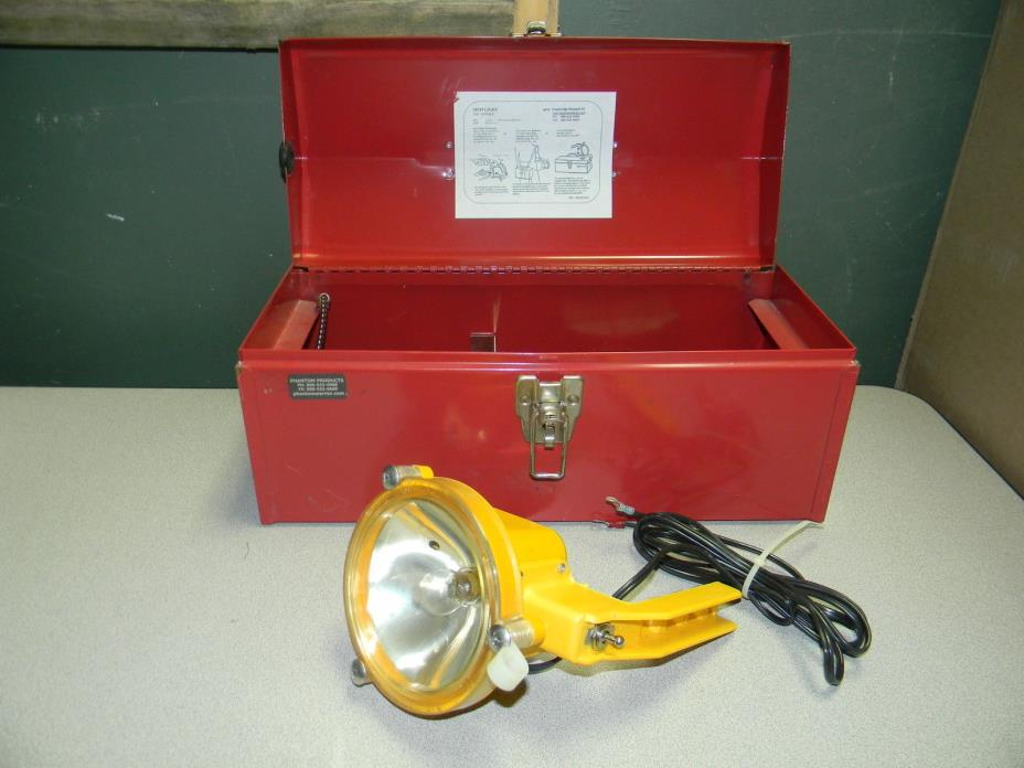 Phantom Products Spotlight 7 1/2 - 9 Volt A25 CS w/ Red Tool Box NEW!
