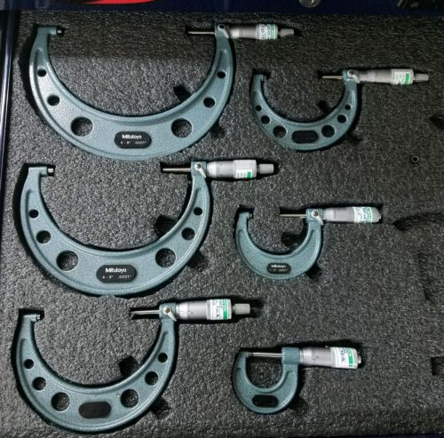 Mitutoyo 0-6 micrometer set