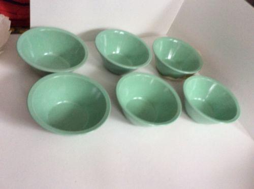 Vintage Kenro US Military Green Bowls Set Of 6 New
