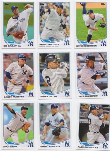 New York Yankees / 1000 Yankees Baseball Cards - All Different with 2017 Topps