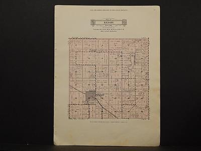 Minnesota Swift County Map Kildare Township 1931 Y6#59