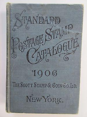 Antique 1906 SCOTT'S STANDARD POSTAGE STAMP CATALOGUE