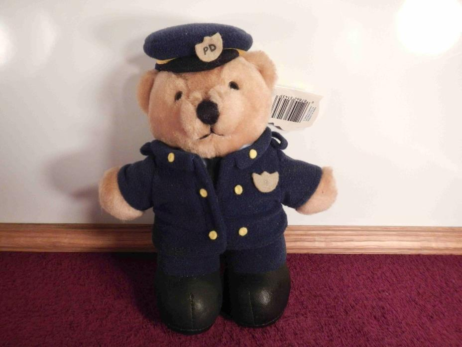 Vintage Dakin Police Officer Bear in Uniform Plush Stuffed Animal Toy NWT! CUTE!
