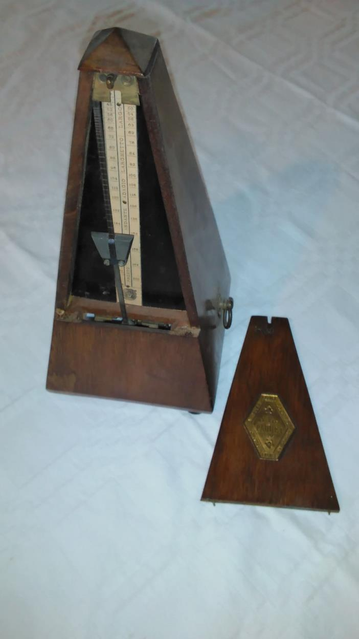 Antique Mahogany METRONOME DE MAELZEL - by Paquet 1885 Paris