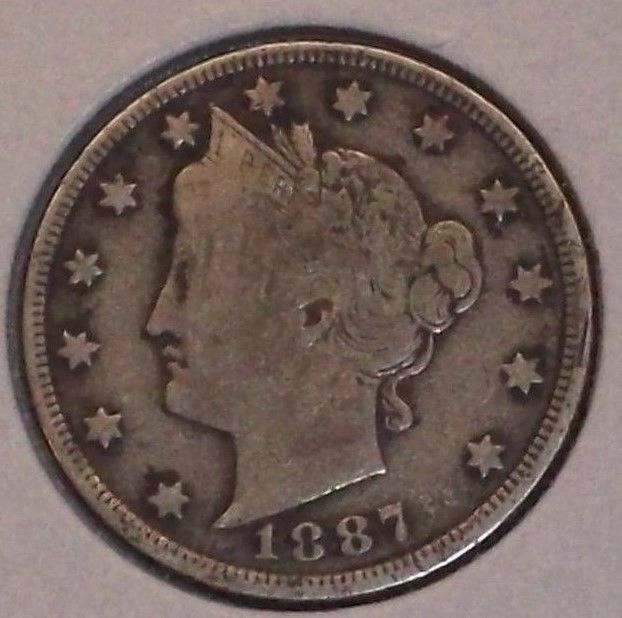 1887 LIBERTY NICKEL! IN F CONDITION! FULL LIBERTY! BETTER DATE!