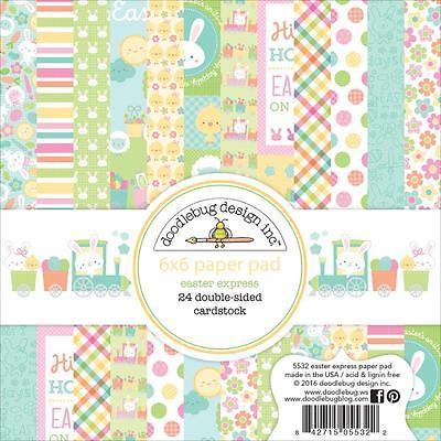 Easter Express Scrapbooking 6x6 inch Paper Pad Doodlebug 24 Sheets NEW