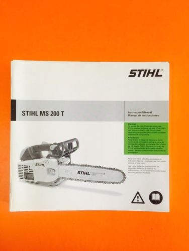 Stihl MS200T Chainsaw Instruction  Manual - NOS OEM ------C1Q2
