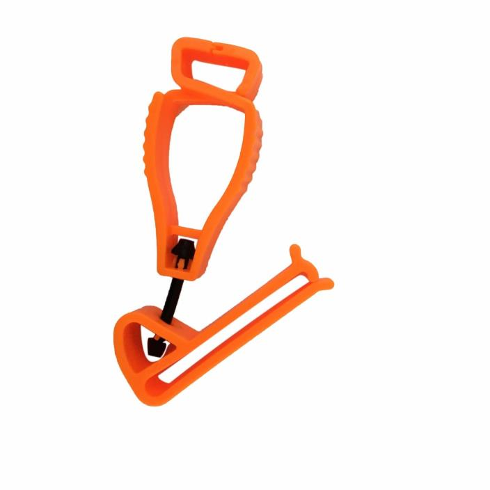 AT02-O 1Pc Orange Glove Grabber Clip Holder Guard Work Safety Clip Glove Keeper